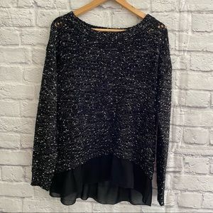 FOREVER 21 sweater with Sheer Mock Layer